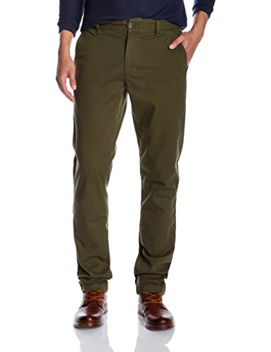 Olive Chino (Quality Durables Co. Men's Stretch Cotton Regular-Fit Chino Pant 38 x 30 Olive)