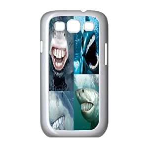 T-TGL(RQ) Samsung Galaxy S3 I9300 Hard Back Cover Case Shark Week with Hard Shell Protection