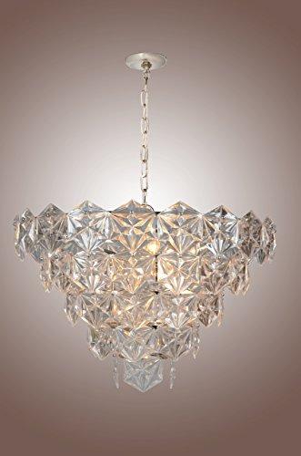 Kinkeldey Chandelier Hexagonal Crystals Mid Century 9 LIGHT -