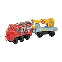 Chuggington Wood Magnetic Wilson Toy Train with Crane Car, 2-Pack