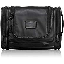 TUMI  Alpha 2 Hanging Leather Travel Kit, Black