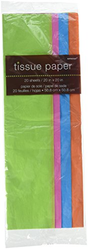 Amscan Mix Bright Tissue Sheets Party Gift Bag