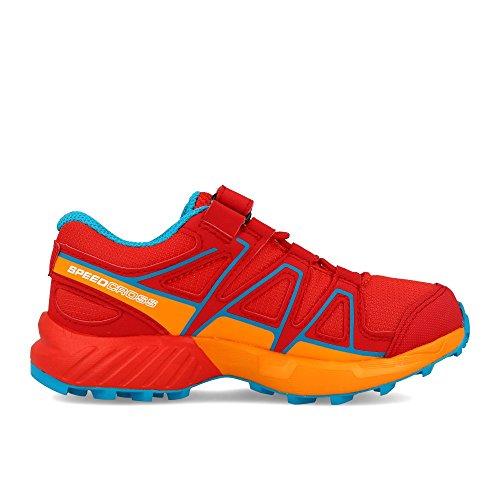 de Rouge K Rouge Mixte Speedcross Enfant EU Salomon Bungee Chaussures Trail 32 q7IRSSTUw