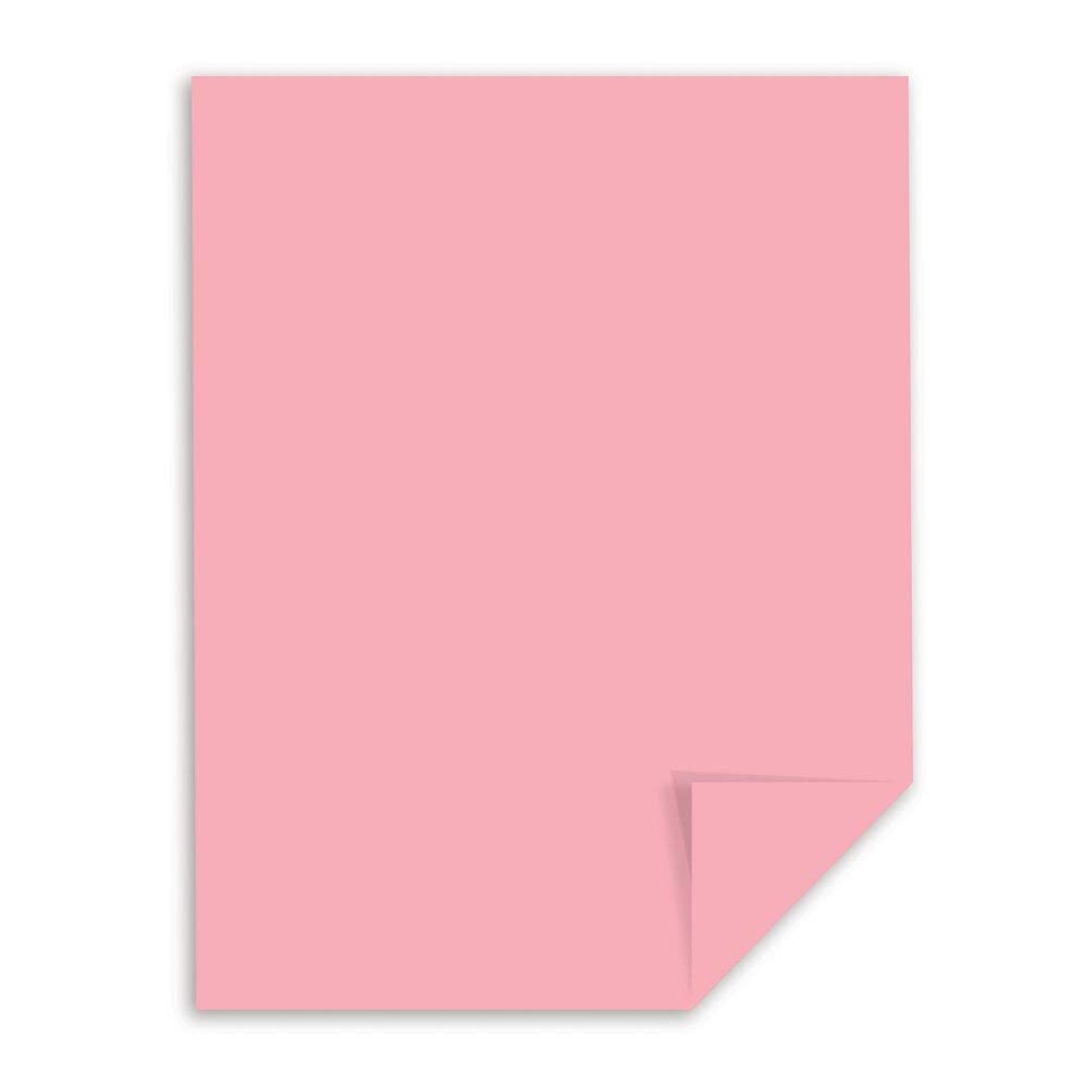 8.5 x 11 Inches Pastel Pink Renewed 250 Sheets Wausau Vellum Bristol Cardstock 82441 67 lb
