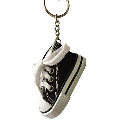 Price comparison product image Canvas Sneaker Tennis Shoe Sneaker Keychain #0455 (black)