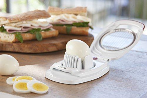 ZYLISS Egg Slicer - Non Slip, Egg Cutter and Wedger with Built in Shell Piercer