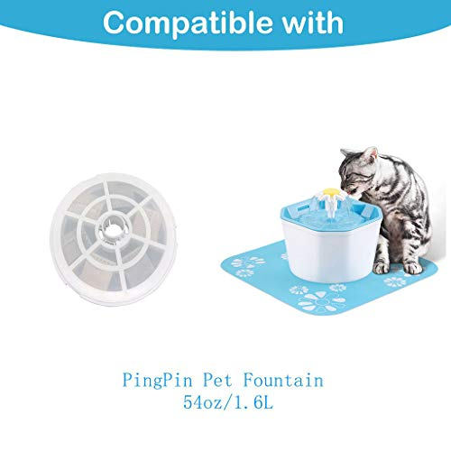 Jiayit New Octagonal Shape Flower Style Designed Pet Fountain Automatic Electric Water Dispenser Special Filter Accessories For Pet (A) - Octagonal Fountain