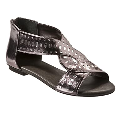 Product Image Xhilaration Pewter Hettie Cutout Sandal - 4