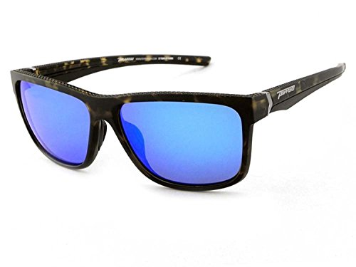 (Peppers Polarized Sunglasses Telluride Matte Tortoise with Blue Mirror Lens)