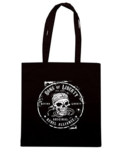 T-Shirtshock - Bolsa para la compra TM0626 original rebel alliance Negro