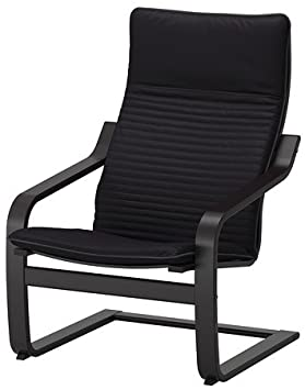 Amazon.com: IKEA poang silla sillón con cojín, tapa y marco ...