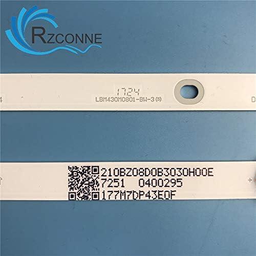 ShineBear - Tira de 8 Luces LED para televisor Philips 43PUS6162/12 LBM430M0801-BW-3 3V/LED (850 mm): Amazon.es: Electrónica