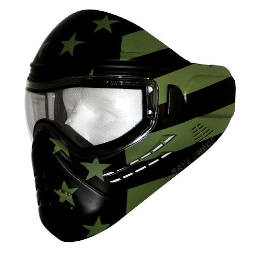 Save Phace Tagged Series Subdued Tactical Mask with Custom Handpainted Graphic, Military Combat Flag by Save Phace