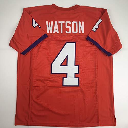 Clemson Jerseys Football - Unsigned Deshaun Watson Clemson Orange Custom Stitched College Football Jersey Size Men's XL New No Brands/Logos