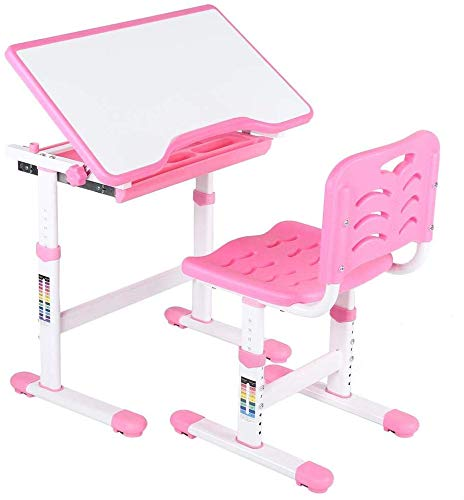 TARKAN-Kids-Steel-Height-Adjustable-Study-Table-Desk-and-Chair-Set-with-Storage-Workstation-for-3-15-Years-Old-Pink