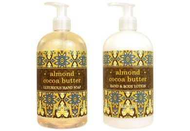 Greenwich Bay Trading Hand Soap & Hand and Body Lotion, 16 Ounce,2 pack Bundle Set (Almond Cocoa - Cocoa Caddy