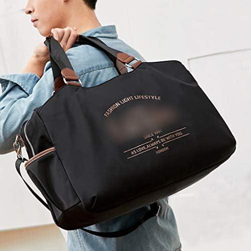 女子軽量防水荷物バッグ大容量モバイルトラベルバッグアンチプル耐性ブラック、グリーンを着用してください HMMSP (Color : Black)