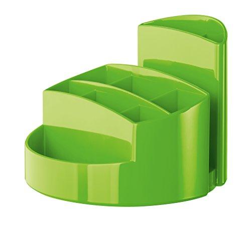 HAN 17460-90, Schreibtischköcher RONDO, Elegant, Hochglänzend, Premium Qualität mit 9 Fächern, New Colour grün