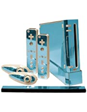 Sky Chrome Mirror Vinyl Decal Faceplate Mod Skin Kit for Nintendo Wii Console by System Skins