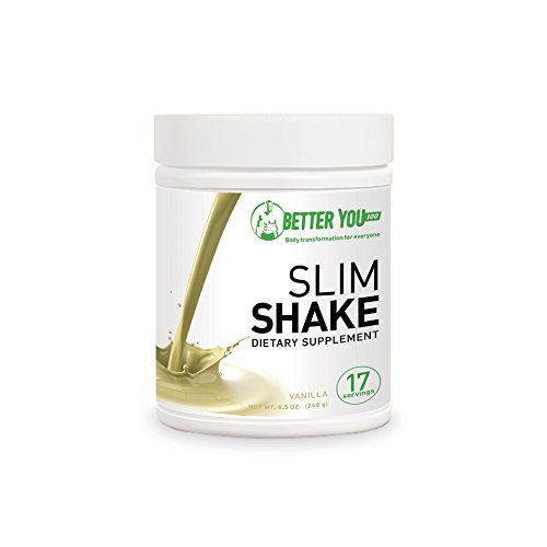 BetterYou100 Protein Diet Slim Shake - Vanilla Flavour - Healthy & Convenient Meal Replacement Powder, Nutritional Weight Loss & Muscle Growth Dietary Supplement, Tasty & Energy Boosting Formula ()