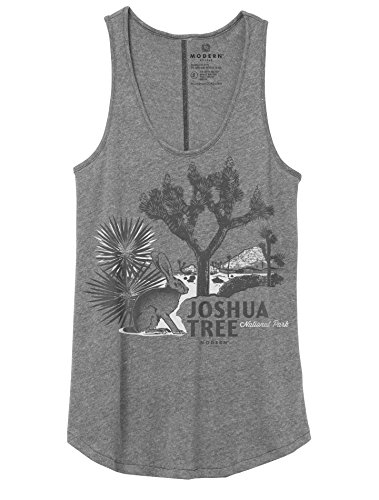 Superluxe Trade  Womens Vintage Joshua Tree National Park Flowy High Low Tank Top  Vintage Coal  Small