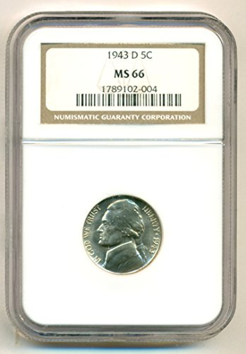 1943 D Jefferson Silver Nickel MS66 NGC