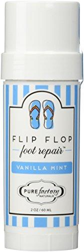 (Flip Flop Foot Repair by PURE Factory - Vanilla Mint 2 oz. Moisturizer Feet)