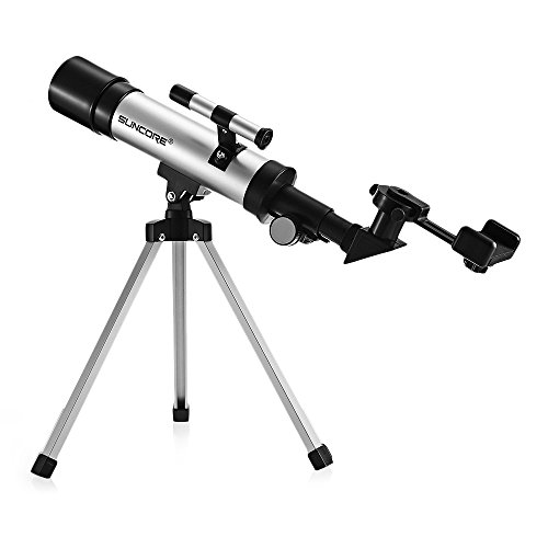 Kidshome Child Telescope 360 / 50mm Portable Astronomical Refractor with Tripod Phone Holder Outdoor Monocular Spotting Scope for Sky Observation Ideal Gifts for Children Toddlers Beginners by Kidshome