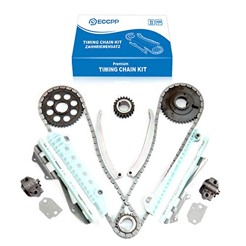 - ECCPP TK6046F0 Timing Chain Kit Tensioner Guide Rail Cam Sprocket Crank Sprocket fits for 1997 1998 1999 2004 Ford F-150 4.6L 281Cu.in.V8 Gas SOHC Naturally Aspirated