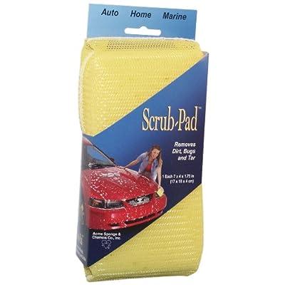 "Careware SC709 Yellow 7"" x 4"" x 1.75"" Scrub-Pad: Automotive"