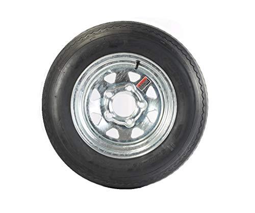2-Pack Trailer Tire On Rim 530-12 5.30-12 Galvanized Spoke 5 Bolt C