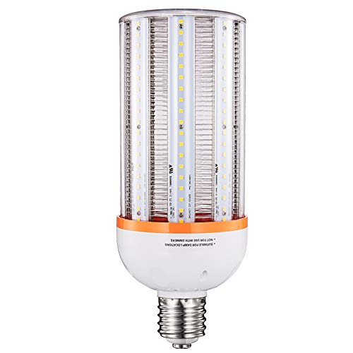 LED Corn Light Bulb 60W,Large Mogul E39 Base 5000K,Equivalent of 250W Metal Halide HID HPS for Retrofitting Shoebox,Cobra Head Fixtures,Area Lights,Flood Lights,Bollards and Post Top fixtures-ETL (Led Cobra)