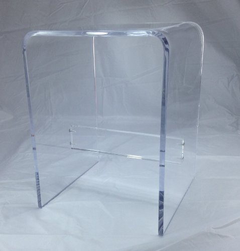 1/2'' Clear Acrylic Shower Bench by One Stop Plastic Shop
