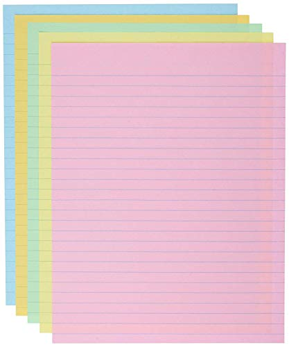 School Smart Ruled Exhibit Paper, 8-1/2 x 11 Inches, Assorted Colors, (3 X Pack of 500) by School Smart (Image #1)