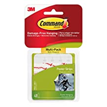 Command Small Poster Strips Value Pack, 48-Strips