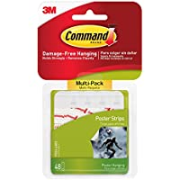 Command Poster Hanging Strips Value-Pack, Small, White,...
