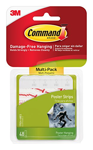 Command Poster Hanging Strips Value-Pack, Small, White, 48-Pairs - At Friendly The Shops