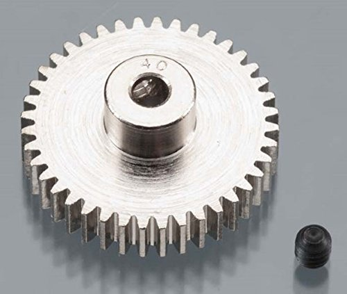 Robinson Racing 1040 Hard Nickel Plated Steel Motor Pinion Gear, 1/8