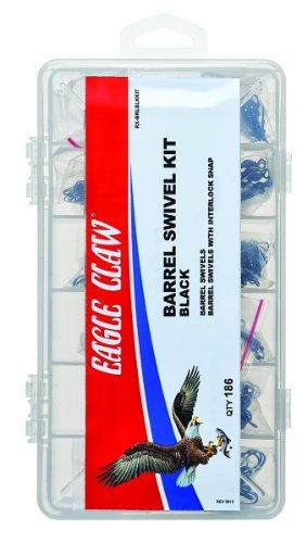 Eagle Claw Ball Bearing Swivel Kit, 96 Piece (Black) ()