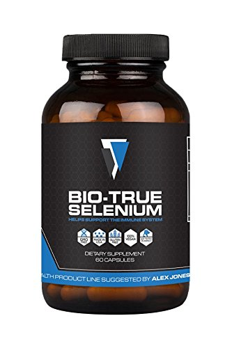 Bio True Selenium 200 Mcg  60 Capsules    Vegan  Non Gmo   Gluten Free Thyroid Support Supplement To Improve Energy  Metabolism   More