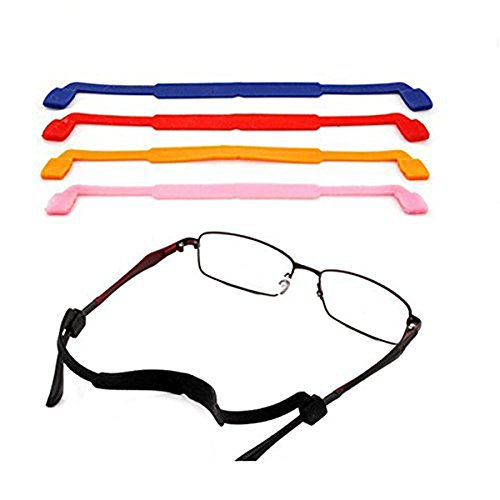 5PCS Mixed Colors Universal Silicone Anti-slip Elastic Headband Strap Sports Glasses Holder Strap for Eyeglasses Sunglasses