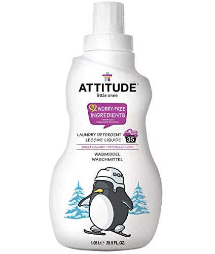 ATTITUDE Little Ones, Hypoallergenic Laundry Detergent, Sweet Lullaby, 35.5 Fluid Ounce, 35 Loads (Attitude Baby Detergent)
