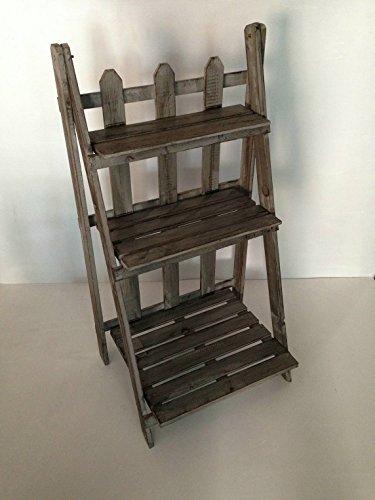 Screen Gems Garden Shelf of Distressed Wood by Screen Gems