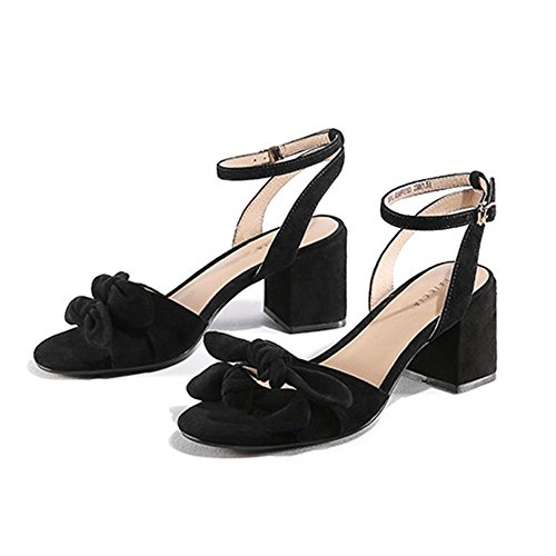 De Open cn34 Femmes Épais 1 Taille couleur Chaussures button Lha Des Color uk3 One Eu35 Toe Buckle Avec Pure Sandales D'été Confortables 2 g1Wqqw50