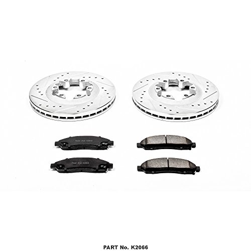Power Stop K2066 Front Z23 Evolution Brake Kit with Drilled/Slotted Rotors and Ceramic Brake Pads by POWERSTOP (Image #1)