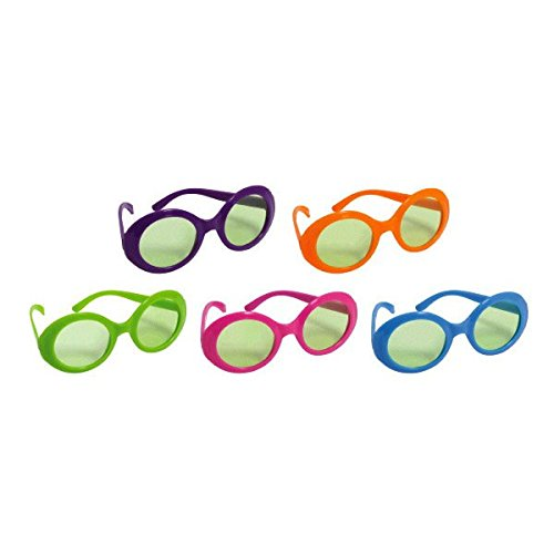 Disco Fever 70's Party Colored Frame Glasses Accessory, Plastic