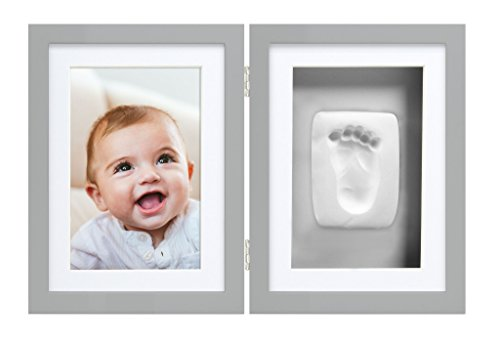 Pearhead Babyprints Newborn Baby Handprint and Footprint Desk Photo Frame & Impression Kit, (Mothers Day Handprint)