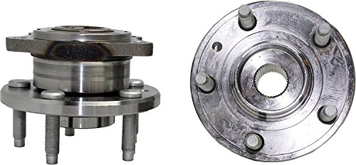 (Detroit Axle - AWD - Brand New (Both) Rear Wheel Hub and Bearing Assembly for Five Hundred, Freestyle, Montego, Taurus AWD 5 Bolt W/ABS (Pair) 512300 x2)