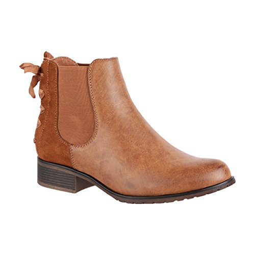 Elara , Boots Chelsea Femme Camel
