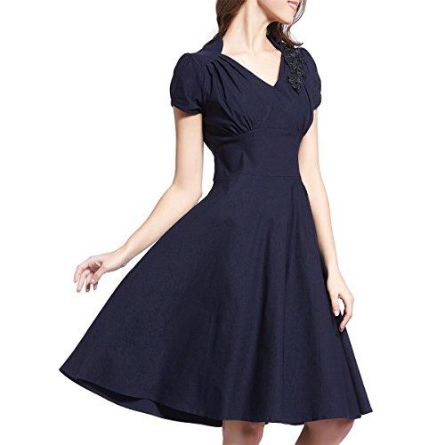 new look navy peplum dress - 6